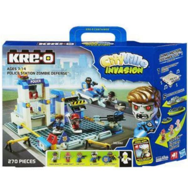 Kre-o - (Kreo) City Ville Invasion Police Station Zombie Defense
